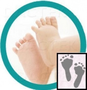 """""""Deluxe"""" Baby Inkless Footprint Kit with Colour Papers"""