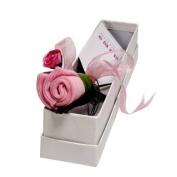 Flower Stork Bud - Birth Certificate Keepsake - Baby Girl Pink - 3 months + . Imported from UK.