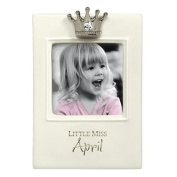 """Little Miss Princess"" Birthstone Keepsake Frames"