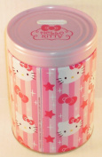 Hello Kitty Stars & Bows Round Tin Bank with Easy-Off Lid