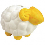 Sassafras / Fun to Paint Ceramic Coin Bank, Sheep