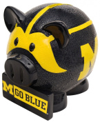 NCAA Michigan Wolverines Resin Large Thematic Piggy Bank