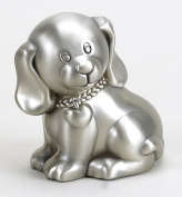 Baby Puppy Bank - Pewter Finish - Gift Boxed