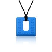 Siliconies Square Pendant (Teething/Nursing/Sensory) - Ultramarine Blue