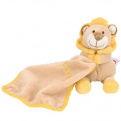 FAO Schwarz 17cm Baby Lion Dou Dou Security Blanket - Tan, Orange