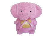 Towel Treat Plush Blanket, Pink Elephant