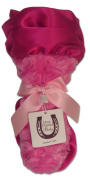 Max Daniel Baby Rosebuds and Satin Security Blanket - Hot Pink