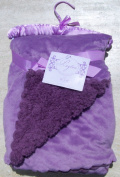 Payton Collection Lavender Reversible Plush Scalloped Edge Sherpa Baby Blanket