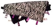 ZEBRA STRIPE ~ Reversible Satin Blanket with Ribbon Tabs