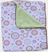 Caden Lane Classic Collection Circle Dot Piped Blanket