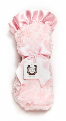Max Daniel Baby Rosebuds and Satin Throw - Solid Pink