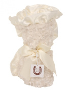 Max Daniel Baby Rosebuds and Satin Throw - Ivory