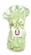 Max Daniel Baby Rosebuds and Satin Throw - Celery