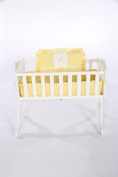 Baby Doll Bedding Gingham with Bear Applique Cradle Bedding Set