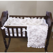 Baby Doll Bedding Toile Deluxe Cradle Set