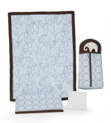 Carter's 4 Piece Crib Bedding Set, Blue Elephant
