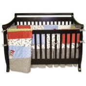 Baby / Child Trend Lab Dr. Seuss 4 Piece 100% Cotton Crib Bedding Set W/ Patched & Framed Quilt - Cat In The Hat Infant