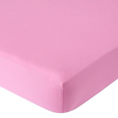 . Knit Crib Sheet - Dark Pink