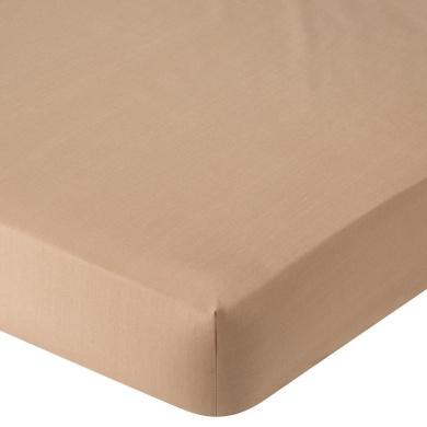 . Percale Crib Sheet - Mocha