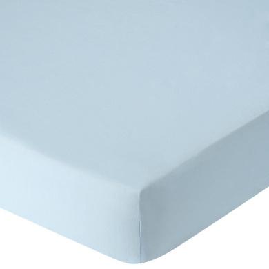 . Percale Crib Sheet - Lt Blue