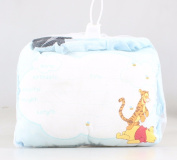 20cm Winnie The Pooh Birth Announcement Door Pillow With Pen in Blue/Baby Boy Keepsake