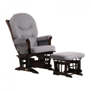 Dutailier Foam/Round Back Cushion Design Sleigh Glider Multiposition, Recline and Ottoman Combo