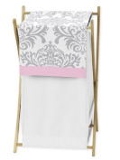 Baby/Kids Clothes Laundry Hamper for Pink, Grey and White Elizabeth Bedding by Sweet Jojo Designs