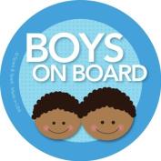 Boys on Board Car Sticker - Afr. Amer. boys on board - Modern and Unique - Bright Colours