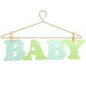 Little Boutique Hanger Wall Art - Blue & Green Baby