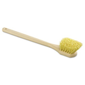 "Utility Brush, Polypropylene Fill, 20"" Long, Tan Handle"