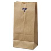 8# Paper Bag, 35lb Kraft, Brown, 6 1/8 x 4 11/64 x 12 7/16, 500/Pack