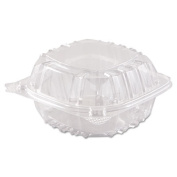 ClearSeal Hinged-Lid Plastic Containers, 6 x 5 4/5 x 3, Clear, 500/Carton