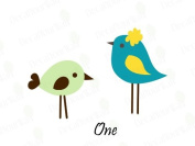 2 Cute Birds Vinyl Wall Decals Girls Boys Nursery Kids Room Removable Stickers