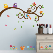 Owls and Friends Wall Decals