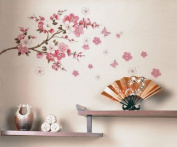 Wall Decor Removable Decal Sticker - Cherry Blossoms Tree Branch
