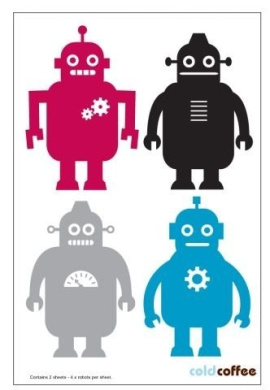 Robots Wall Decor Stickers