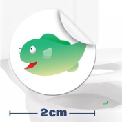 10 X Toilet / Potty Training / Urinal Target Fish Stickers