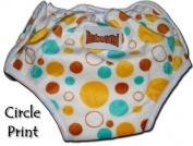 ADJUSTABLE Potty Training Pants/ Trainers/ Resuable & Washable Bamboo Minky One Size by BubuBibi - BUBBLES