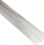 Rockwood 295.32D 2 X 2 X 40 Stainless Steel Square Corner Guard, 5.1cm x 5.1cm Edge, 102cm Height, Satin Finish