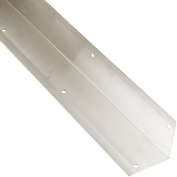 Rockwood 295.32D 3 X 3 X 40 Stainless Steel Square Corner Guard, 7.6cm x 7.6cm Edge, 102cm Height, Satin Finish
