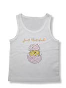 Light of Mine Designs Just Hatched Pink Rib Cotton Infant Tank Top