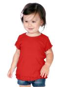 Kavio! Infants Lettuce Edge Crew Neck Short Sleeve T-shirt