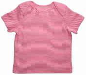Funkoos Pink Pinstripe Baby Girl Short Sleeve T-Shirts Infant, Newborn, Baby