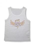 Light of Mine Designs Angel Baby Pink Rib Cotton Infant Tank Top
