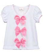 Laura Dare Baby-Girls Bright-Pink Bow Top Shirt