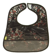 I Frogee Brocade Baby Bibs in Black Chilli Flower Print
