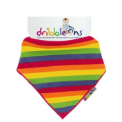 Dribble Ons Designer with Rainbow Stripes
