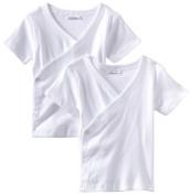 Spasilk Unisex-baby Newborn 2 Pack Short Sleeve Side Snap Tee
