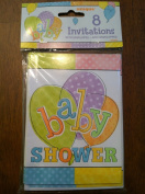 8 Baby Shower Invitations with Envelope