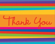 Birthday Stripes 8ct Thank You Cards